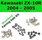 Fairing Bolt Kit body screws fasteners for Kawasaki ZX 10 R 2004 2005 Stainless