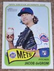 Jacob DeGrom 2014 Topps Heritage AUTOGRAPH w Complete Update Set - BONUS CARDS