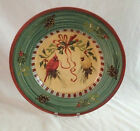 LENOX WINTER GREETINGS LARGE ROUND CHOP PLATTER PLATE PINE CONE BORDER
