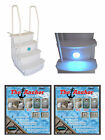 Main Access iStep Above Ground Pool Entry Steps Ladder w LED Light + 2 Weights