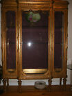 Antique  French Louis XiV Carved Gilt  Wood Vitrine Curio Display Cabinet 19th c