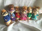 Alvin Ty Beanie Chipmunks And Chipettes Plush Set Complete Of 6 New RARE