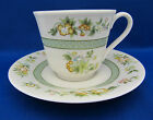 Cup & Saucer Royal Doulton TONKIN TC1107 Green Indian Tree Enamel Flowers