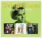 GEORGE JONES SINGS HANK  BOB 2 CD NEW+