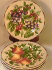 Beautiful Set of 4 Sakura Sonoma Oneida Fruit Salad Luncheon Desert Plates