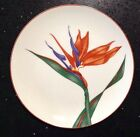 Fitz & Floyd Bird Of Paradise Plate Japan Orange Purple Flower Floral Porcelain
