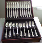 Vintage William Rogers Oneida Silverplate Flatware, Valley Rose Pattern and Case