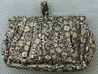 1940's -1950's ZELL FIFTH AVENUE PURSE FLORAL DESIGN CARRYALL VINTAGE HANDBAG