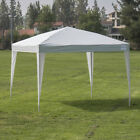 Easy Pop Up Instant Canopy Party Event Shelter Beach Tent 10'x10'- Silver/ White