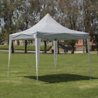 Premium 10'x10' Easy Pop Up Roller Bag Beach Canopy Party Tent - Silver