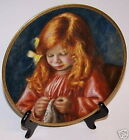 Children of Renoir Plate Artists Son Jean Child Sewing
