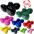 Vinyl Dumbbell Ladies Hand Weights Fitness Home Gym Strength Aerobic Training