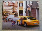 1995 Porsche 911 Carrera 4 Coupe Showroom Advertising Sales Poster RARE Awesome