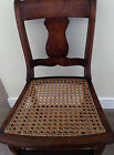 Antique Birdseye Maple Chair with Caned Seat 1800's