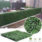 Artificial Boxwood Hedge Privacy Fence Screen Greenery Panels Mat Garden Decor