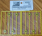 Tichy Train Group 3539 S Scale Crossing Warning Signs 8 in pkg Plastic