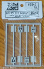 Tichy Train Group 3546 S Scale Keep Left  Rights Signs Text  Pictures