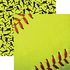 Reminisce SOFTBALL CLOSE UP 12x12 Dbl Sided 2pc Scrapbooking Paper