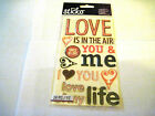 Scrapbooking Stickers Sticko Sayings Love Is In The Air You Me My Life More