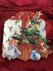 LoOk~ FITZ And FLOYD Christmas Tree Holiday Canapé PLATE Doll Ball Teddy Bear