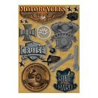 Scrapbooking Crafts Karen Foster Stickers Motorcycles Choppers Born Wild Tools +