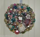 Vintage PINK Christmas ornament wreath 16 Inch Germany Glass 17688 Shiny Brite