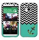 Rainbow Chevron Anchor Tuff For HTC One M8 Cover Case Snap on Protector