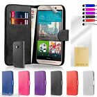 32nd Book Wallet Leather Case Cover for HTC One X9 + Screen Protector
