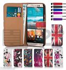 32nd Design Book PU Leather Wallet Case For HTC One X9 + Screen Protector