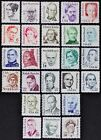 US USA 1844 69 Great Americans I issued 1980 1985 set of 26 stamps Mint NH
