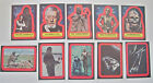 1977-STAR WARS-TOPPS # 2 (RED)--PARTIAL SET STICKERS (10 11) + WRAPPER--NMT