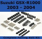Complete Fairing Bolt Kit body screws for Suzuki GSX-R 1000 2003 2004 Stainless