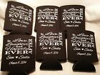 love laughter Custom Wedding Koozies 9536 25 to 300 Personalized party favors
