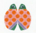 LEE Multi-Color Ladybug handpainted Needlepoint Canvas