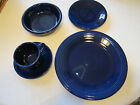 Fiesta ware 5 pc set Cobalt dinner & salad plate soup bowl cup saucer NIB NOS*^