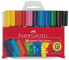 Faber Castell JUMBO CONNECTOR Pens Felt Tip Markers Pack of 10 assorted Colours