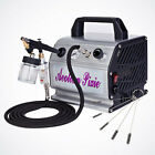 NEW Airbrush Kit Siphon Feed Single Action Air Compressor Hose Hobby Art Paint