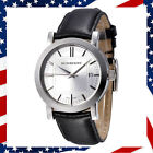 Swiss NEW Authentic Burberry Unisex Black Leather Strap Watch BU1382 uhr-relogio