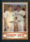 1962 TOPPS # 18 MICKEY MANTLE WILLIE MAYS EX 253086 (KYCARDS)