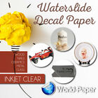 Decal Paper INKJET CLEAR Waterslide 85x11x100 sheets World Paper made in Usa1