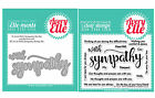 NEW Avery Elle WITH SYMPATHY Clear Stamps Only OR Clear Stamp and Die Bundle