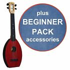 FLEA Ukulele RED concert + DENIM Bag + BEGINNER Pack