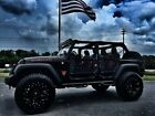 Jeep: Wrangler RUBICON CUSTOM LIFTED LEATHER HARDTOP BLACK WIDOW*RUBICON*CUSTOM*LIFTED*FUEL*FOX*TOYO*DV8*SMITTY*PRO-COMP*LEATHER*FLA