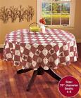 LINDA SPIVEY HEARTS AND STARS CHECKERED TABLECLOTH COUNTRY INSPIRED IN 4 SIZES