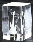 Crystal Paperweight with 3D Laser Engraving Electric Guitar
