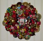 Vintage Christmas wreath ornament 18 Inch Germany Glass 17966 Shiny Brite Angel