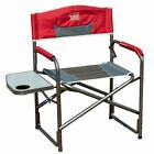 TimberRidge Aluminum Portable Directors Camping Folding Chair with Side Table