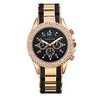 Timothy Stone Rose Gold and Black AMBER BICOLOR Womens FashionWatch