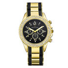 Timothy Stone Gold and Black AMBER BICOLOR Womens Fashion Watch