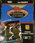 1 BOX 36 PACKS 1991 TOPPS STADIUM CLUB BASEBALL CARDS 2nd SERIES